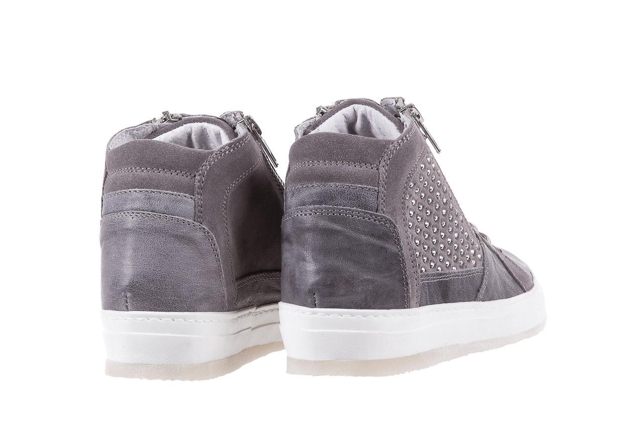 Sneakersy bayla-131 1202 grigio, szary, skóra naturalna - mid season sale -30% 9