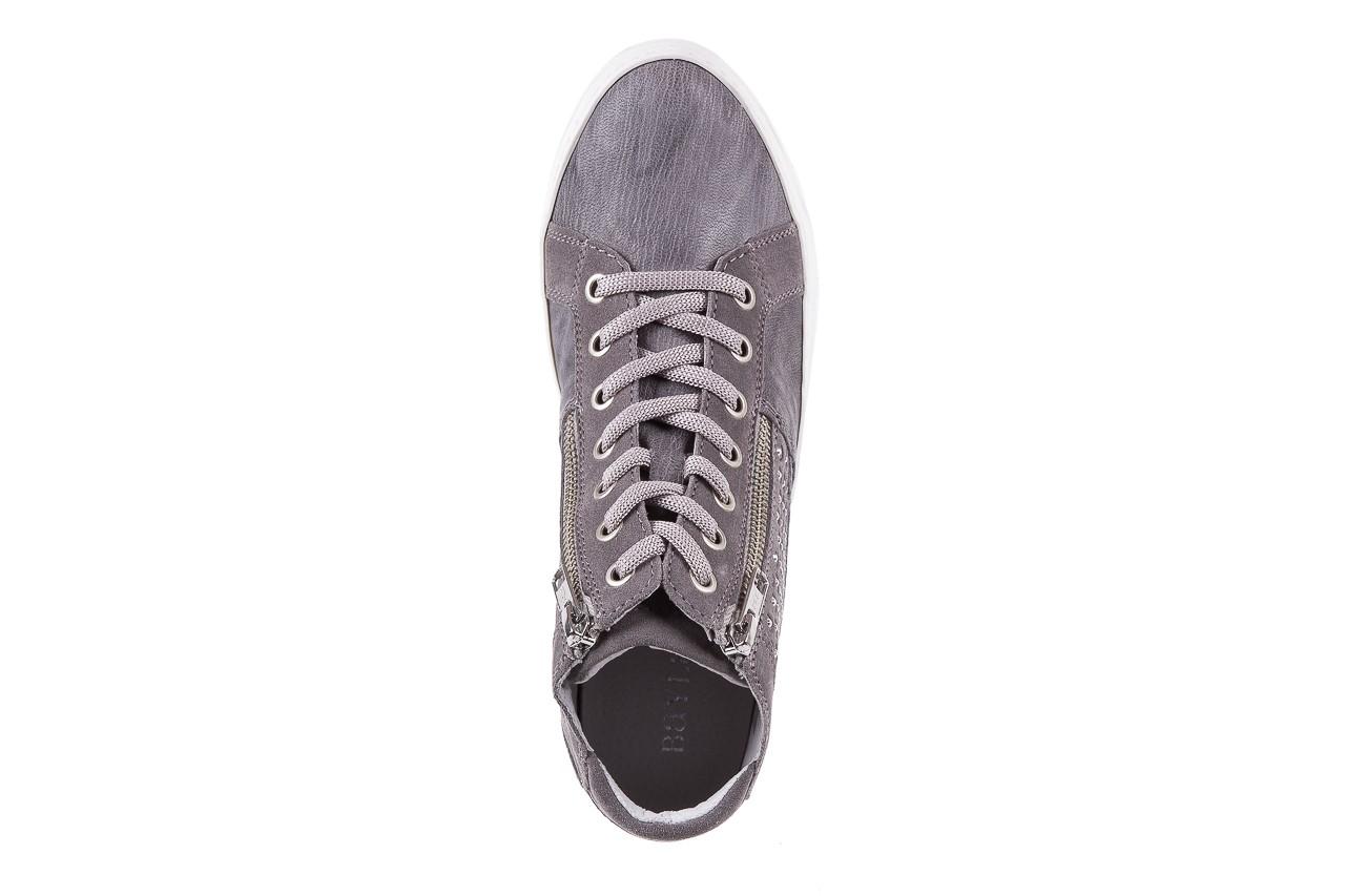 Sneakersy bayla-131 1202 grigio, szary, skóra naturalna - mid season sale -30% 10