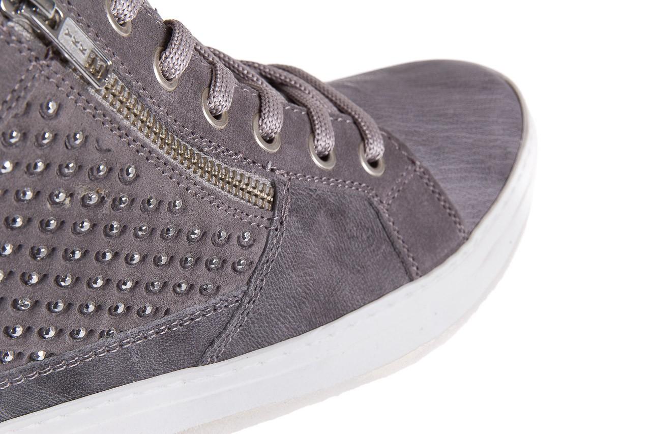 Sneakersy bayla-131 1202 grigio, szary, skóra naturalna - mid season sale -30% 11