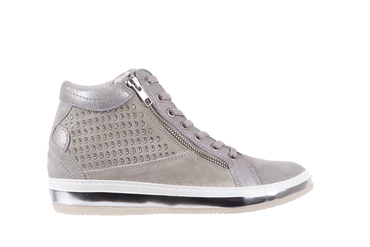 Sneakersy bayla-131 1217 perla, szary, skóra naturalna  - hity cenowe 7