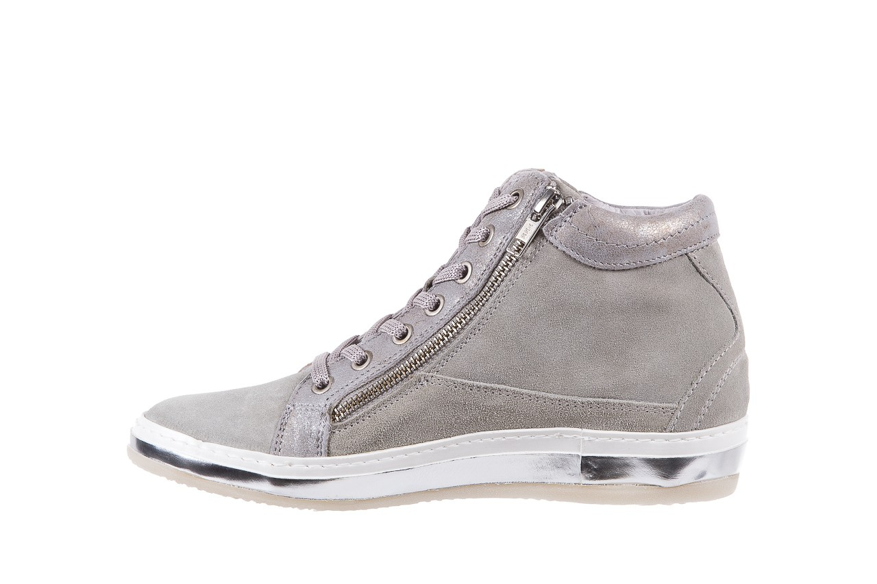 Sneakersy bayla-131 1217 perla, szary, skóra naturalna  - hity cenowe 9