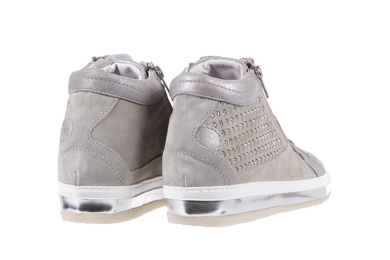 Sneakersy bayla-131 1217 perla, szary, skóra naturalna  - hity cenowe 10