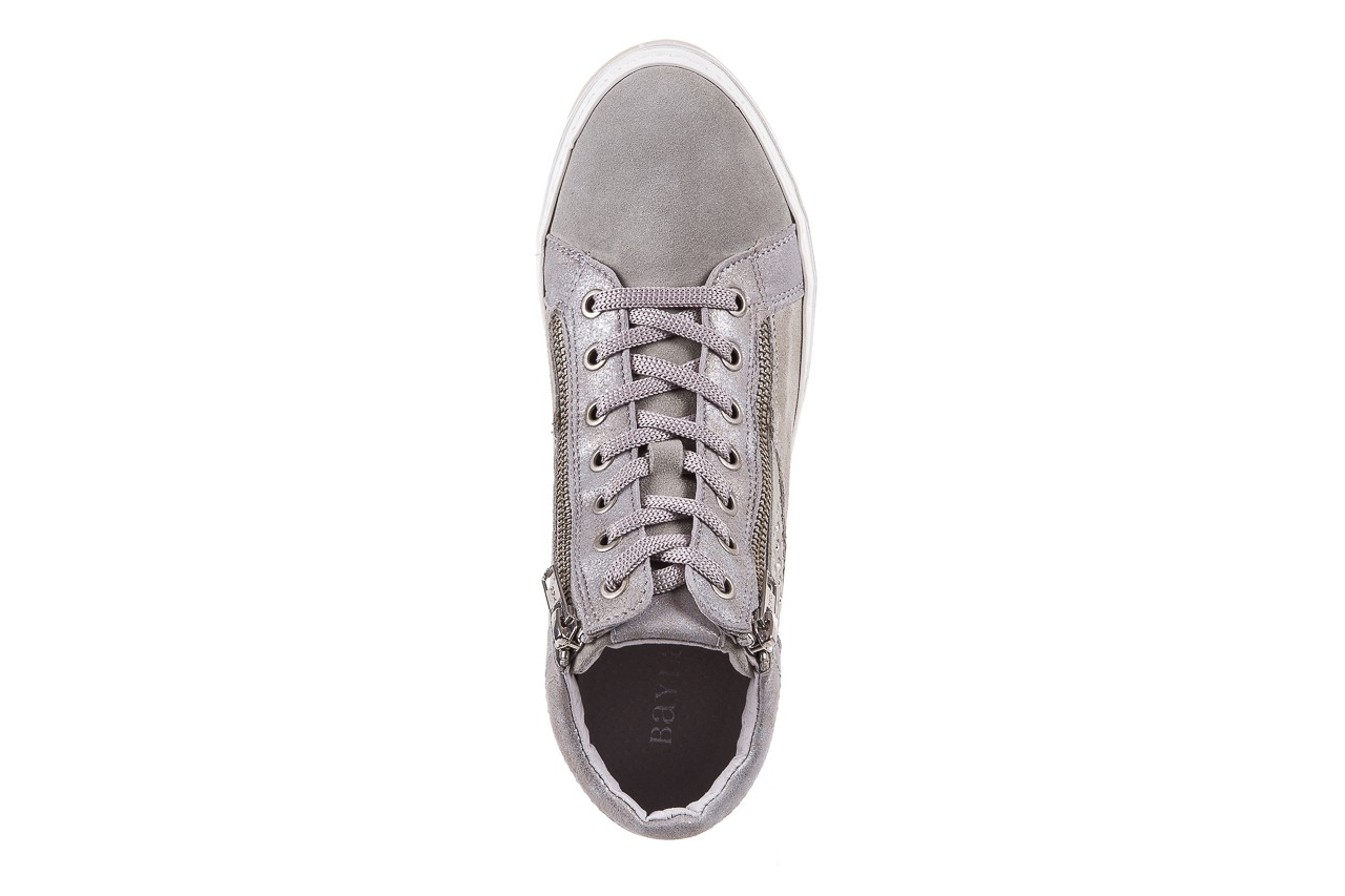 Sneakersy bayla-131 1217 perla, szary, skóra naturalna  - hity cenowe 11