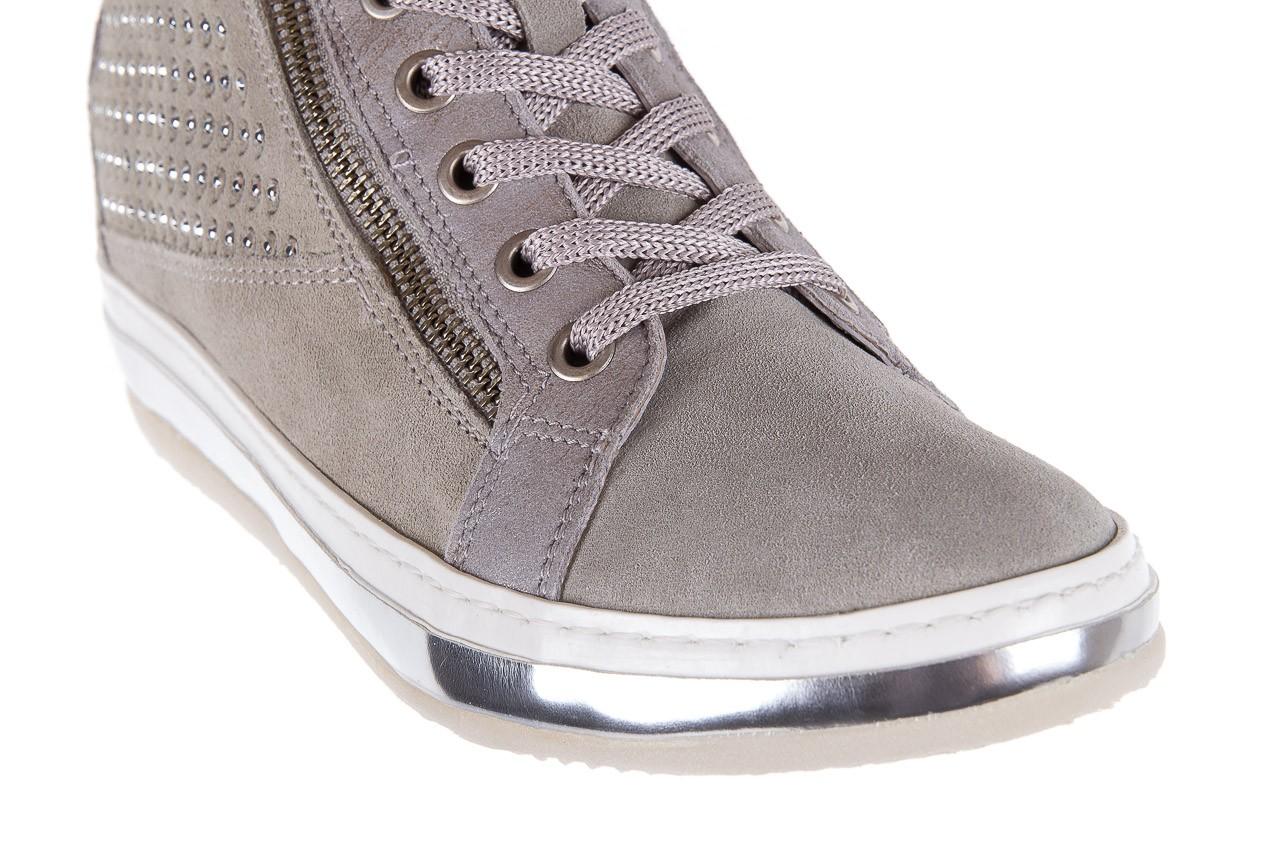 Sneakersy bayla-131 1217 perla, szary, skóra naturalna  - hity cenowe 12