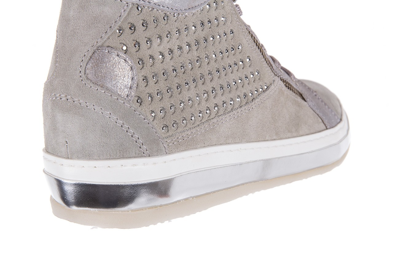 Sneakersy bayla-131 1217 perla, szary, skóra naturalna  - hity cenowe 13