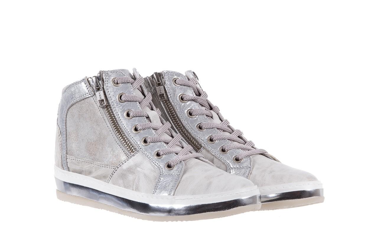 Sneakersy bayla-131 1219 zinco, szary, skóra naturalna  - obuwie sportowe - dla niej - dodatkowe -10% 7