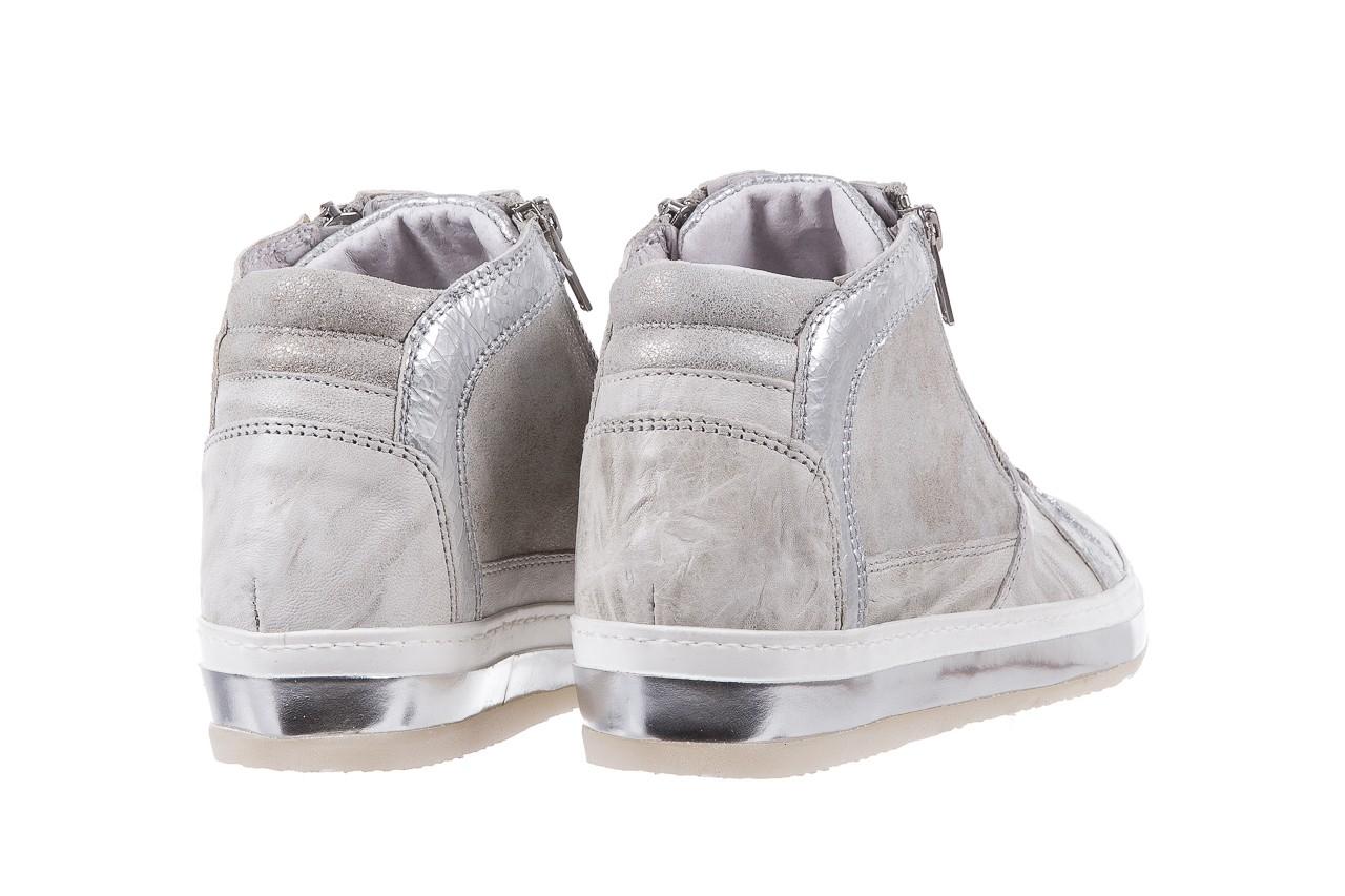 Sneakersy bayla-131 1219 zinco, szary, skóra naturalna  - obuwie sportowe - dla niej - dodatkowe -10% 9