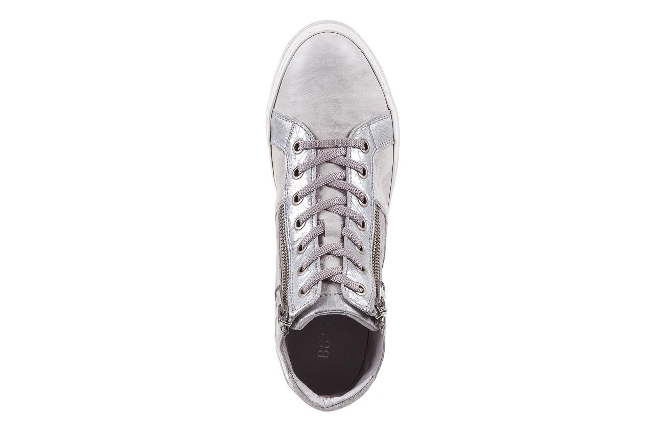 Sneakersy bayla-131 1219 zinco, szary, skóra naturalna  - obuwie sportowe - dla niej - dodatkowe -10% 10