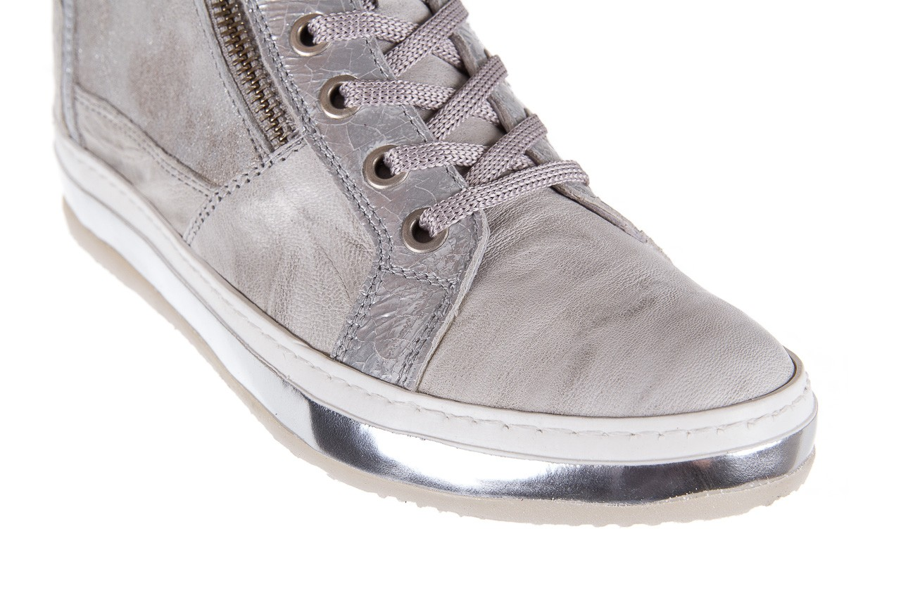 Sneakersy bayla-131 1219 zinco, szary, skóra naturalna  - obuwie sportowe - dla niej - dodatkowe -10% 11