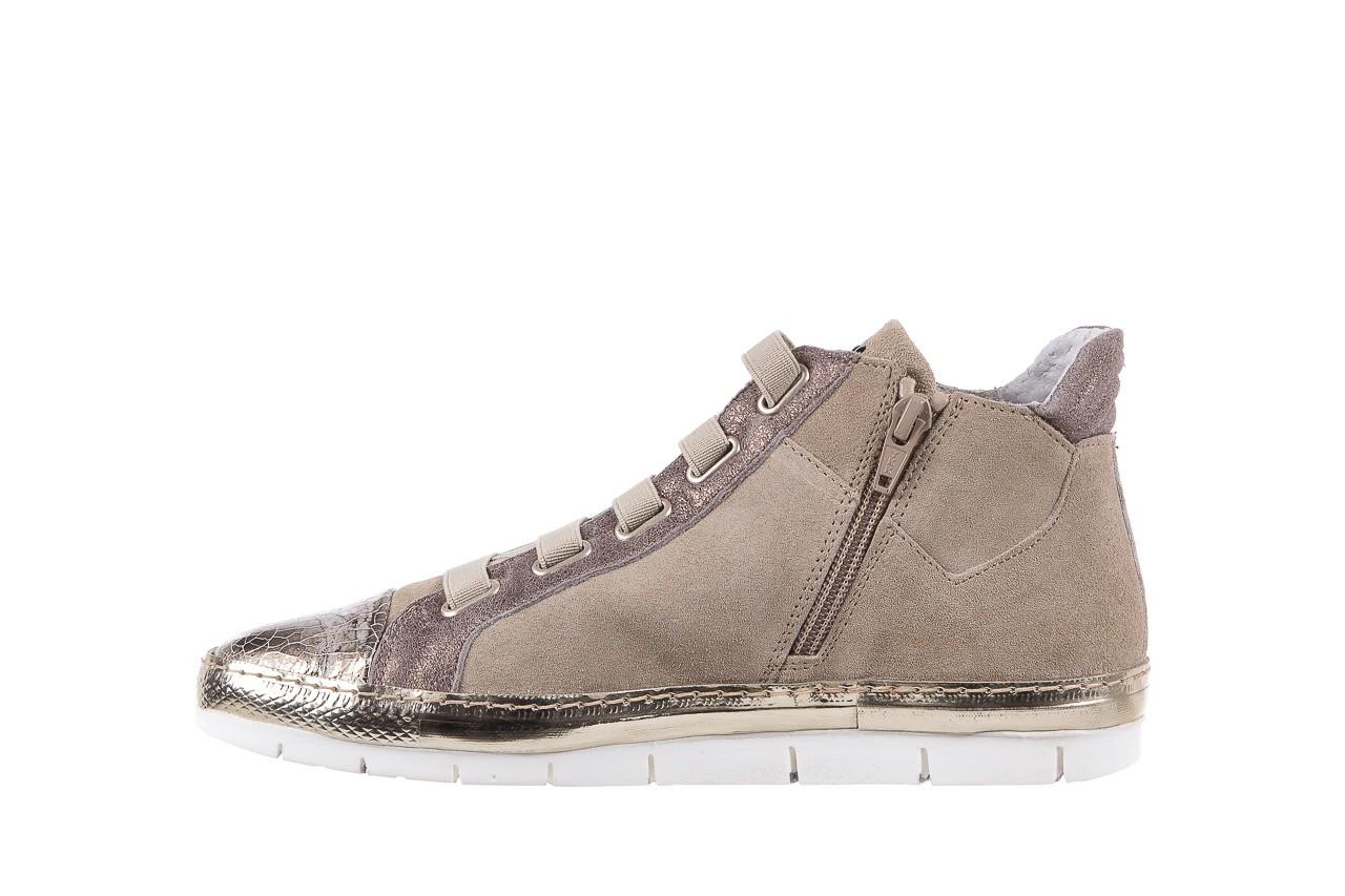 Trampki bayla-131 1304 sand, róż/złoty, skóra naturalna  - skórzane - trampki - buty damskie - kobieta 9