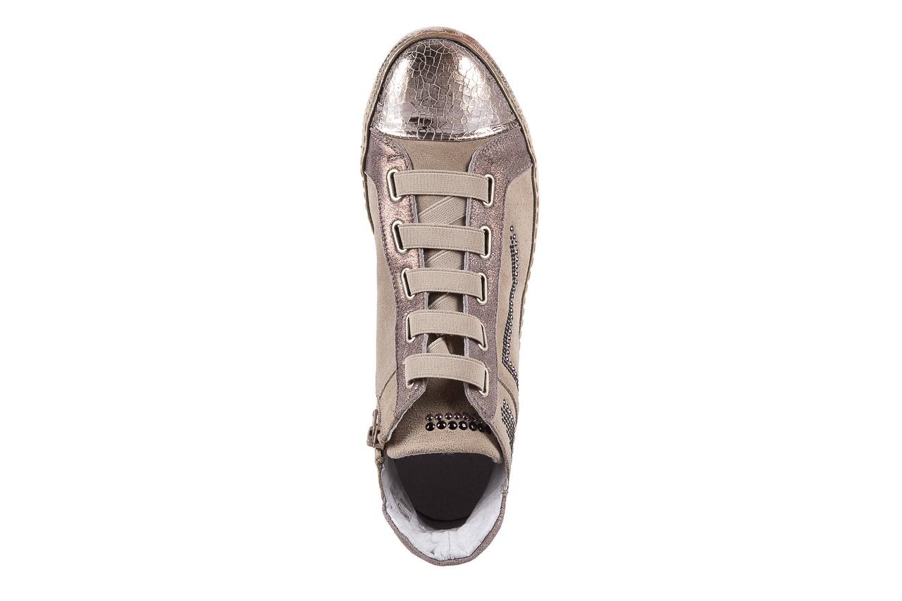 Trampki bayla-131 1304 sand, róż/złoty, skóra naturalna  - skórzane - trampki - buty damskie - kobieta 11