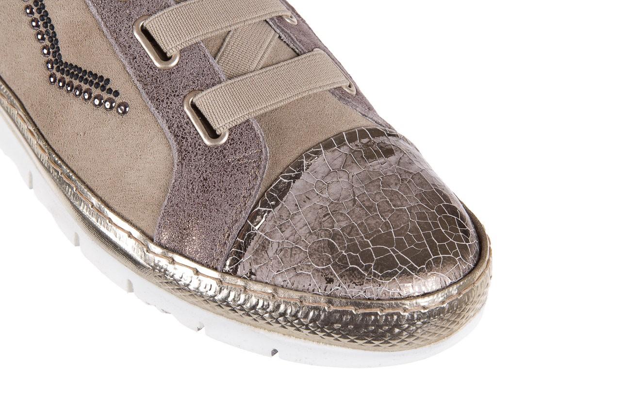Trampki bayla-131 1304 sand, róż/złoty, skóra naturalna  - skórzane - trampki - buty damskie - kobieta 12