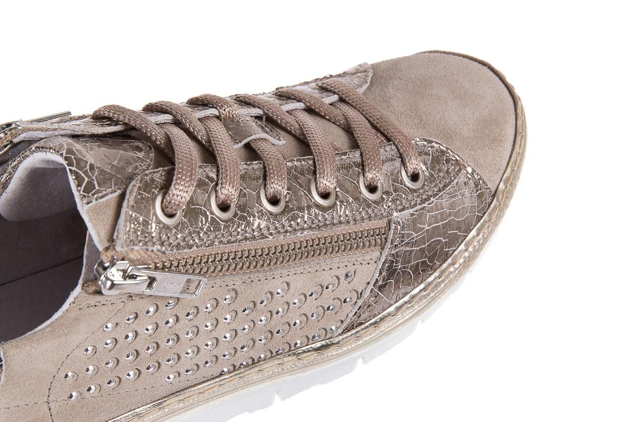 Trampki bayla-131 1317 sand, beż, skóra naturalna  - skórzane - trampki - buty damskie - kobieta 11