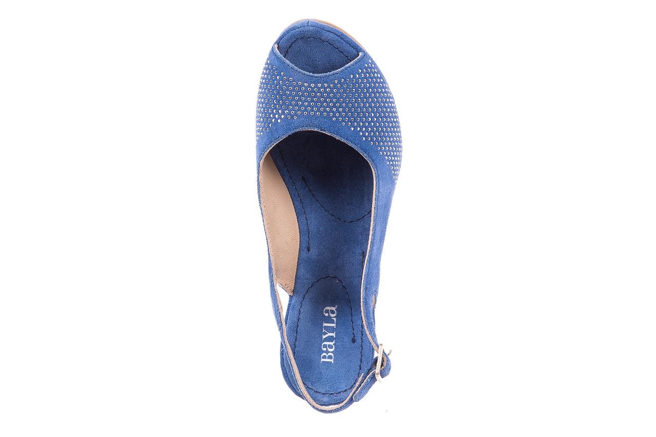 Sandały bayla-131 2507 cobalto, niebieski, skóra naturalna  - bayla - nasze marki 10