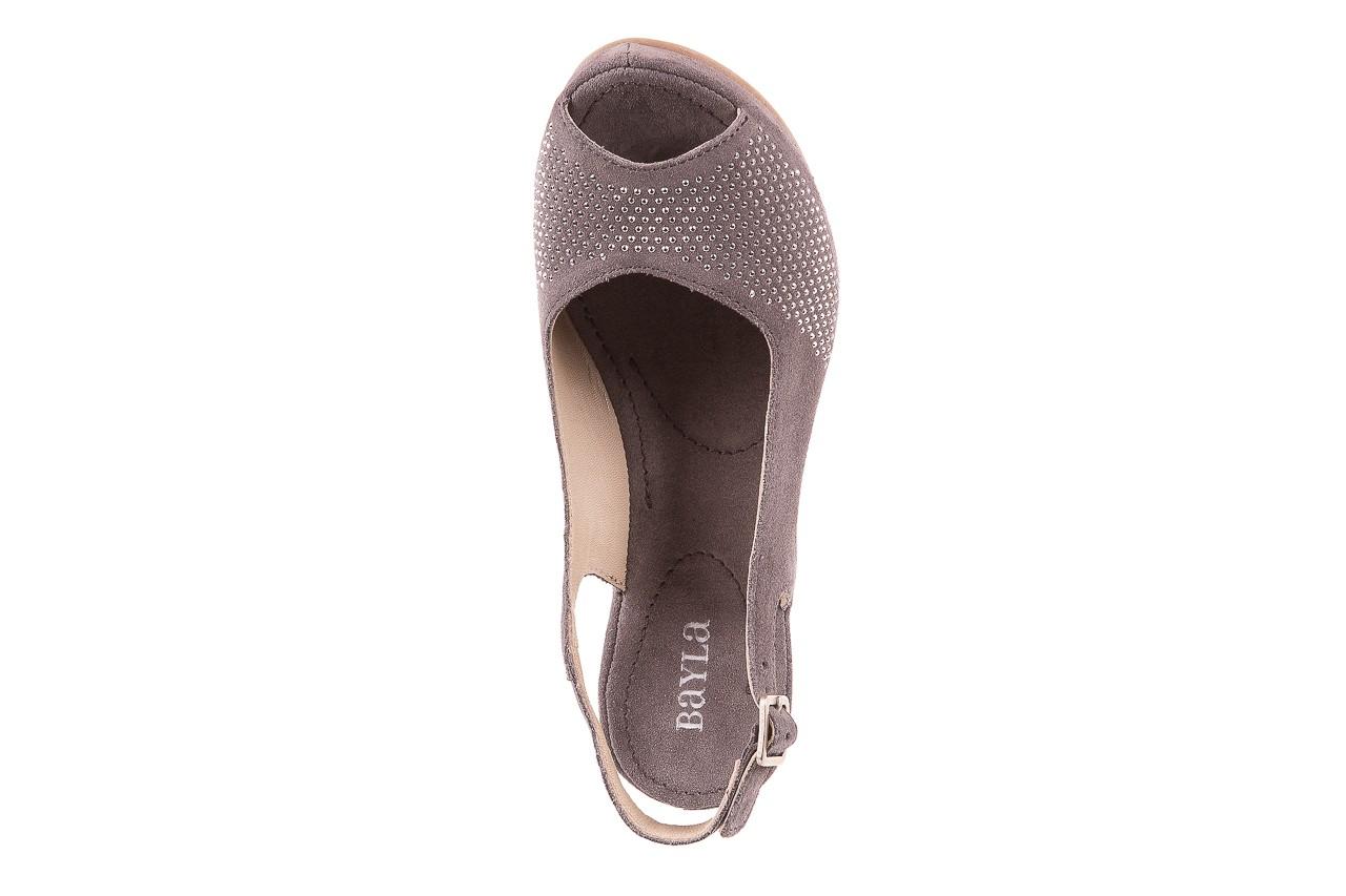 Sandały bayla-131 2507 grigio, szary, skóra naturalna  - bayla - nasze marki 10