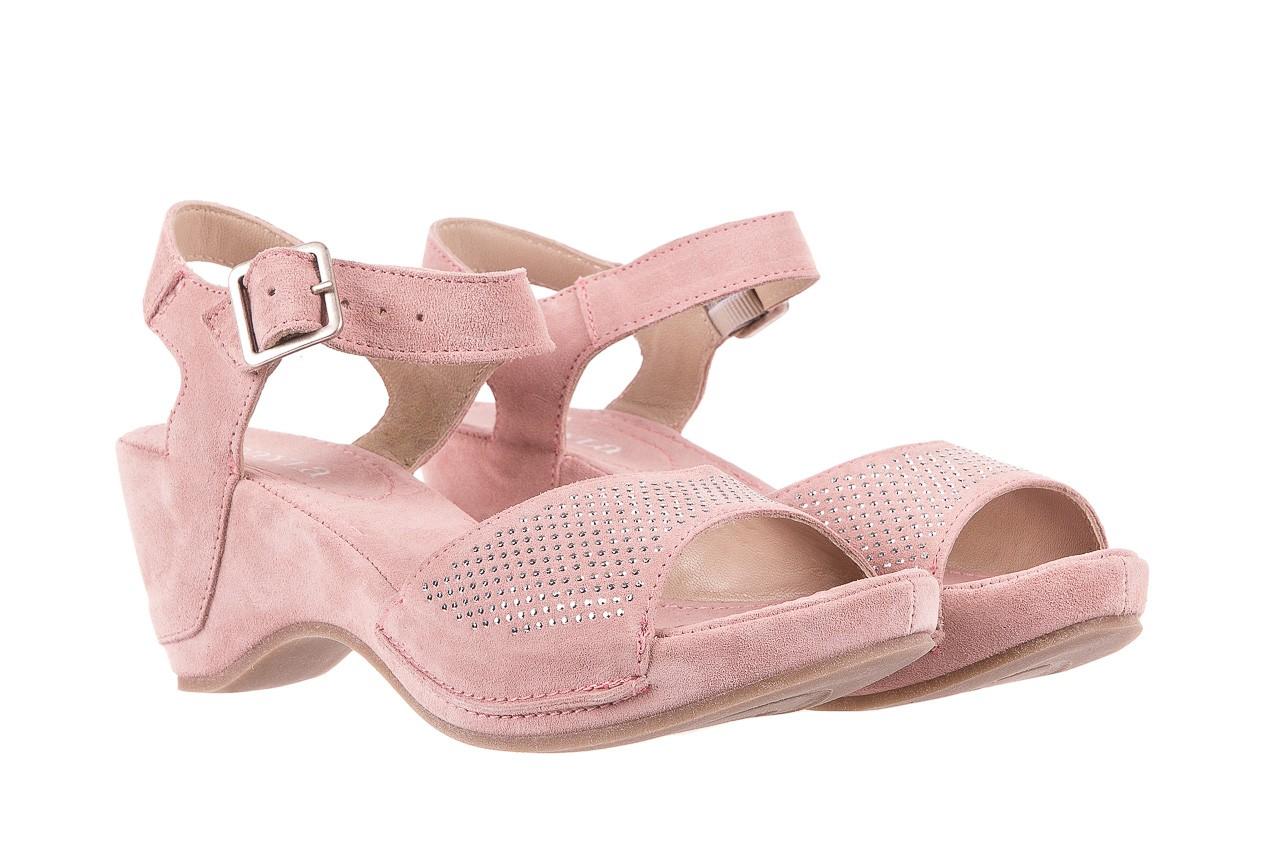 Sandały bayla-131 2508 cipria, róż, skóra naturalna  - bayla - nasze marki 7