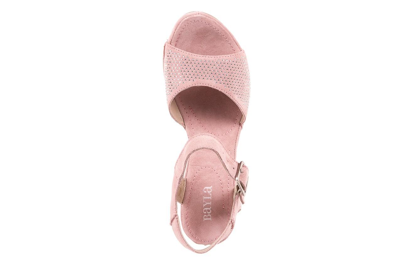 Sandały bayla-131 2508 cipria, róż, skóra naturalna  - bayla - nasze marki 10