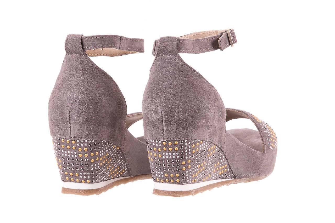 Sandały bayla-131 2701 grigio, szary, skóra naturalna  - sandały - dla niej - dodatkowe -10% 9