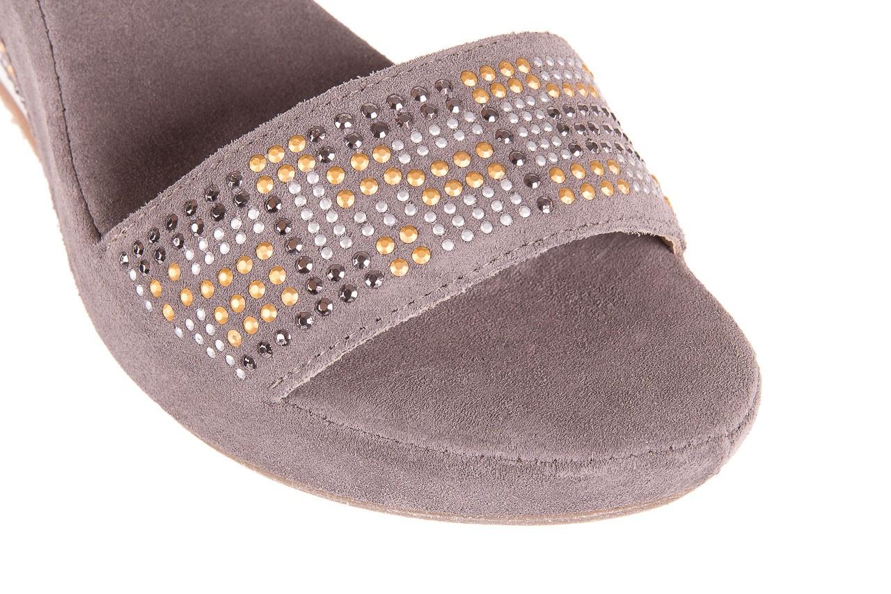 Sandały bayla-131 2701 grigio, szary, skóra naturalna  - koturny - dla niej  - sale 11