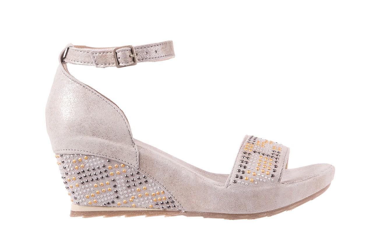 Sandały bayla-131 2701 platino, szary, skóra naturalna  - sandały - dla niej - dodatkowe -10% 6