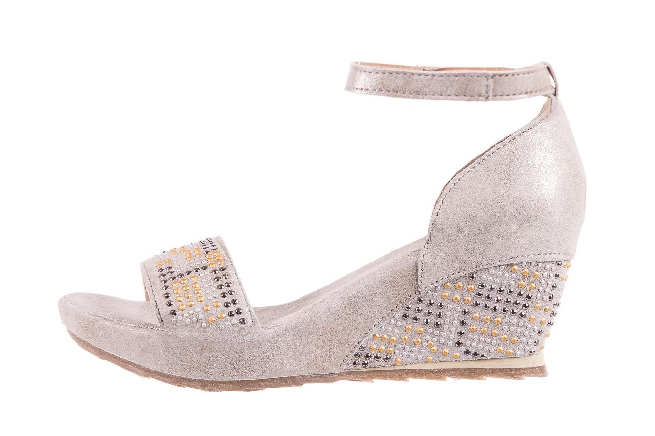 Sandały bayla-131 2701 platino, szary, skóra naturalna  - sandały - dla niej - dodatkowe -10% 8