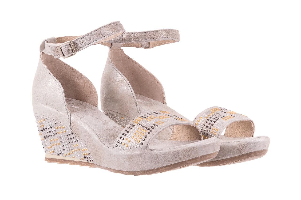 Sandały bayla-131 2701 platino, szary, skóra naturalna  - sandały - dla niej - dodatkowe -10% 7