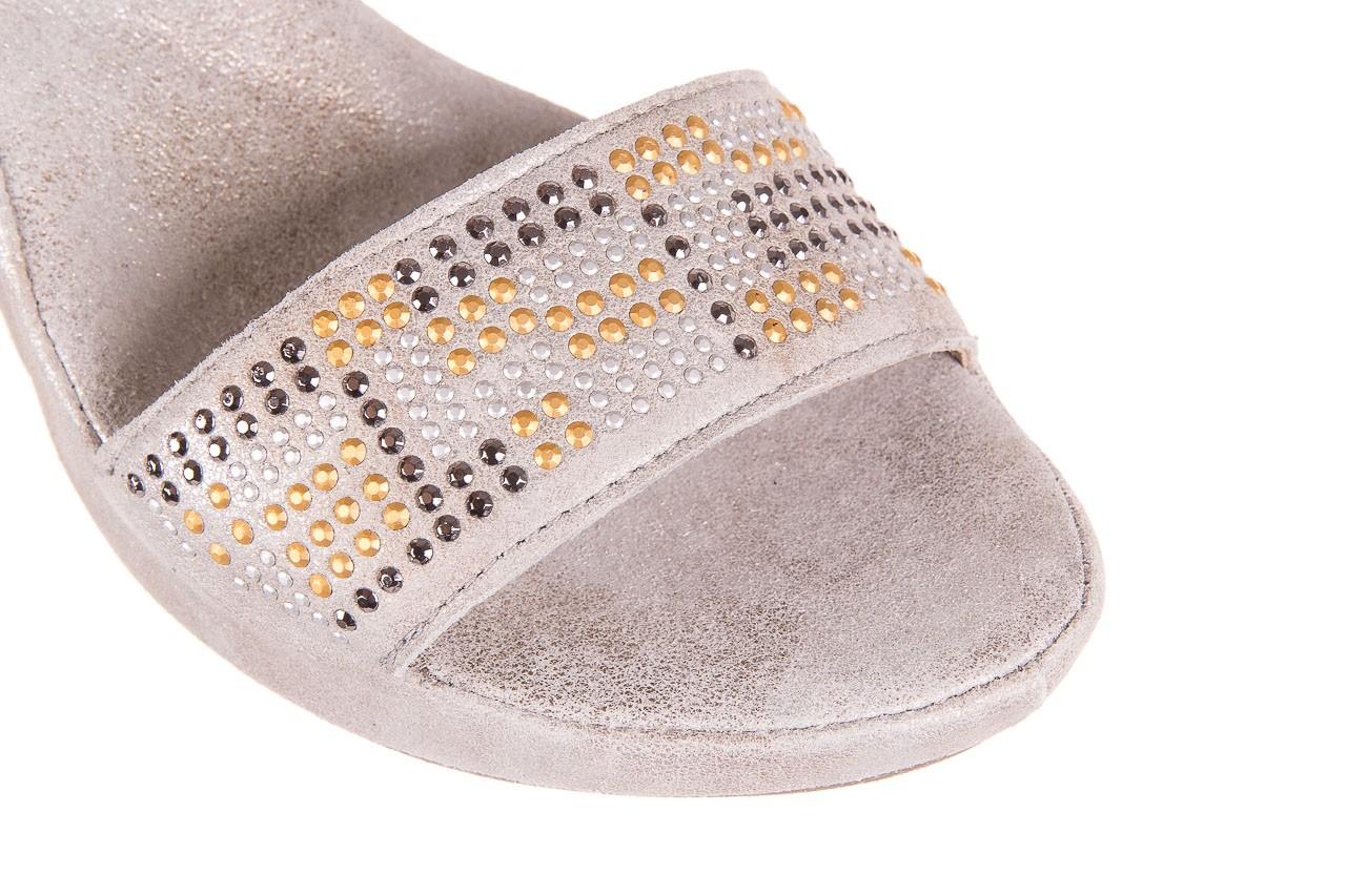 Sandały bayla-131 2701 platino, szary, skóra naturalna  - sandały - dla niej - dodatkowe -10% 11