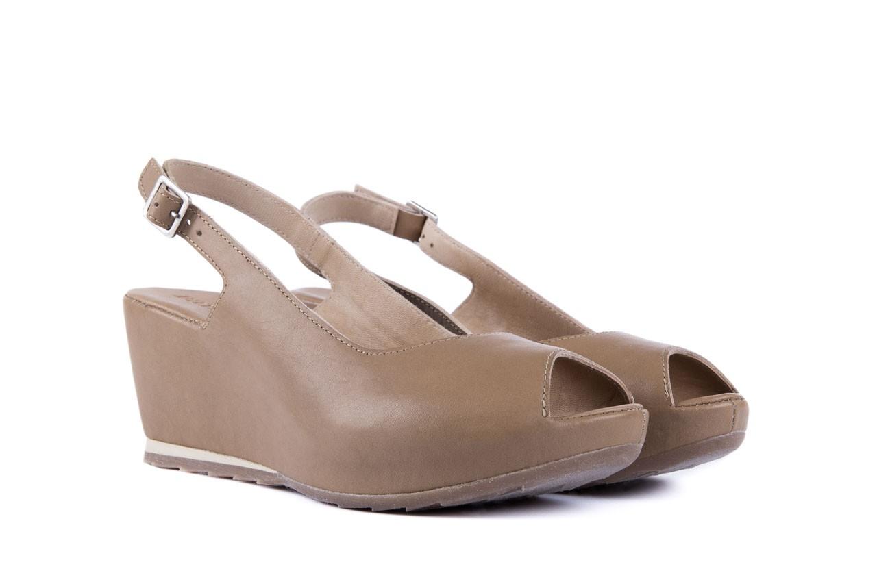Sandały bayla-131 2705 dune , beż, skóra naturalna - na platformie - sandały - buty damskie - kobieta 7
