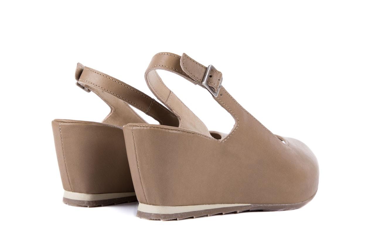 Sandały bayla-131 2705 dune , beż, skóra naturalna - na platformie - sandały - buty damskie - kobieta 9