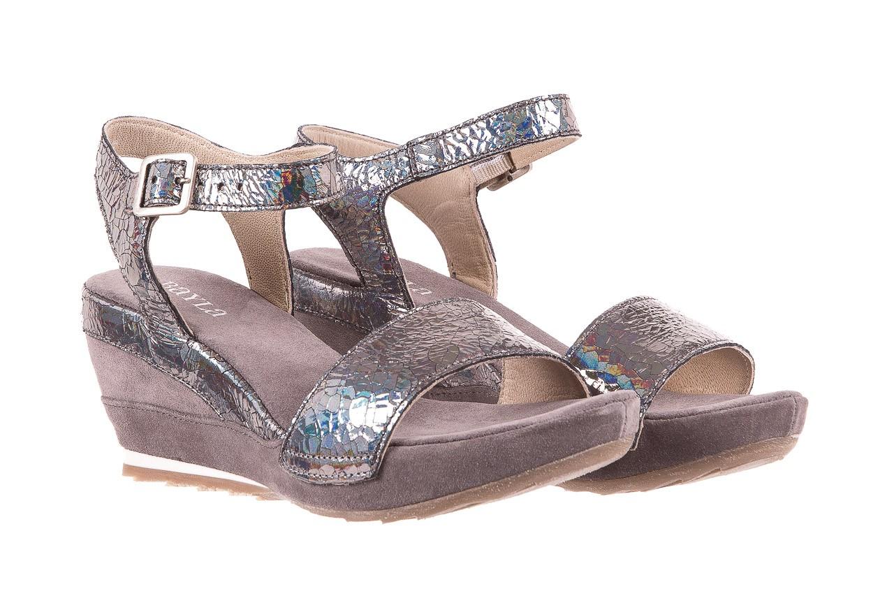 Sandały bayla-131 2711 fucile, szary, skóra naturalna  - sandały - dla niej - dodatkowe -10% 7