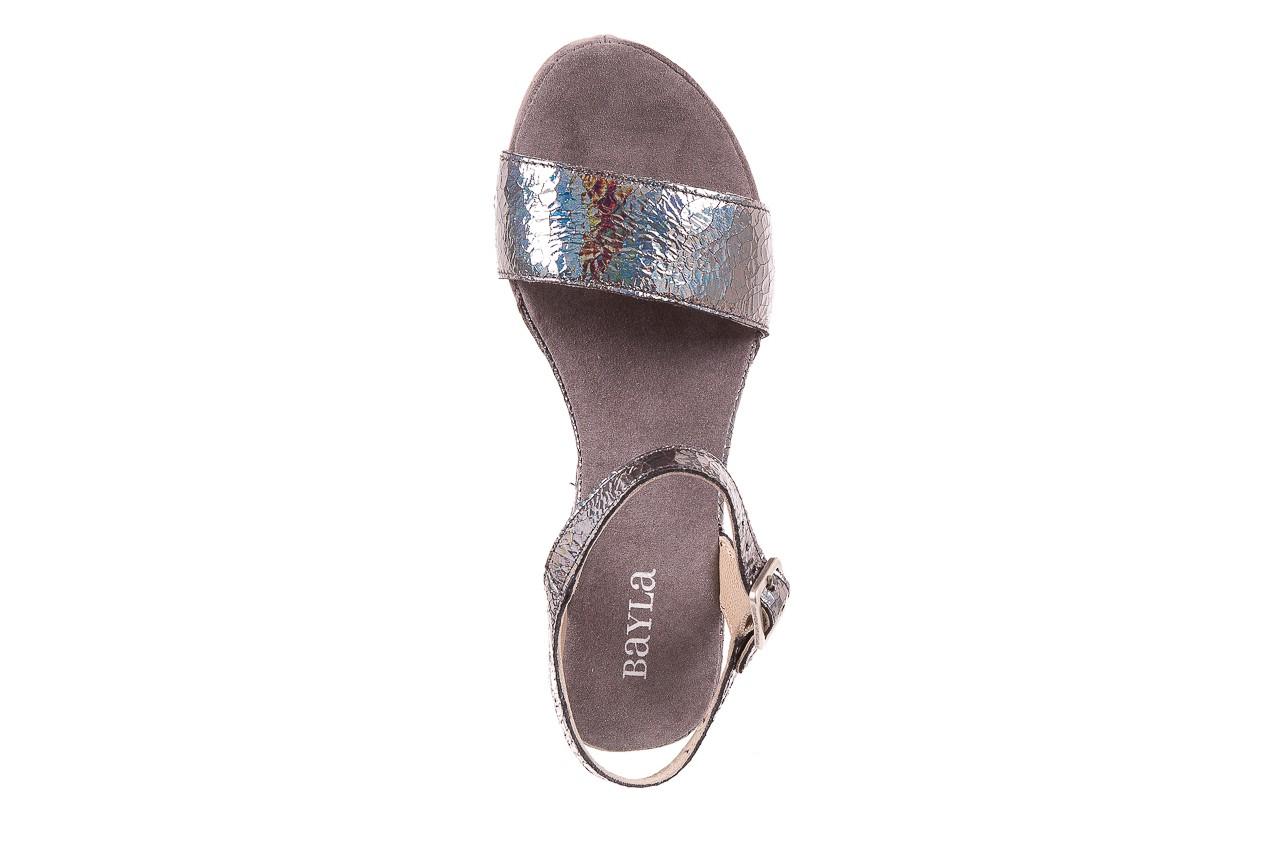 Sandały bayla-131 2711 fucile, szary, skóra naturalna  - sandały - dla niej - dodatkowe -10% 10