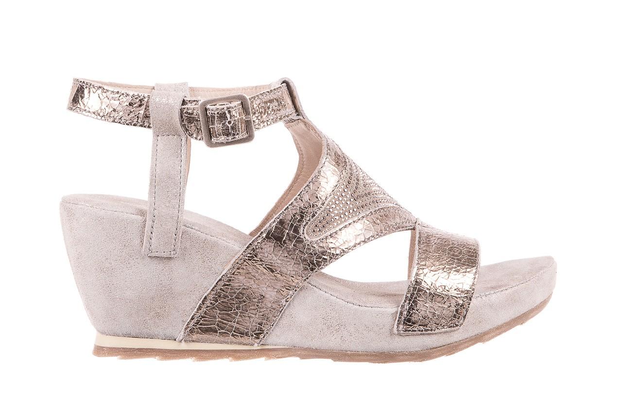 Sandały bayla-131 2714 platino, srebrny, skóra naturalna  - bayla - nasze marki 7