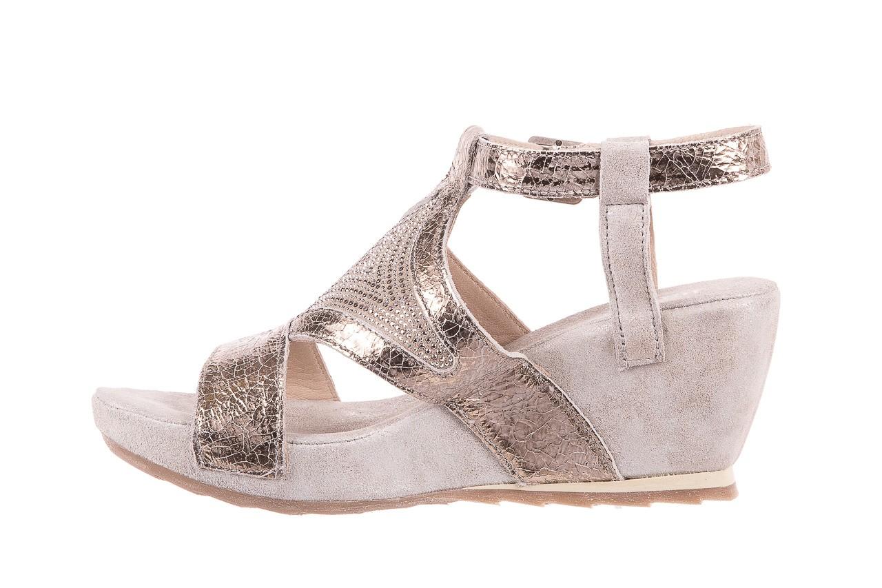 Sandały bayla-131 2714 platino, srebrny, skóra naturalna  - bayla - nasze marki 9