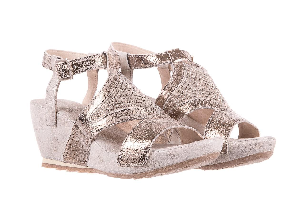 Sandały bayla-131 2714 platino, srebrny, skóra naturalna  - bayla - nasze marki 8