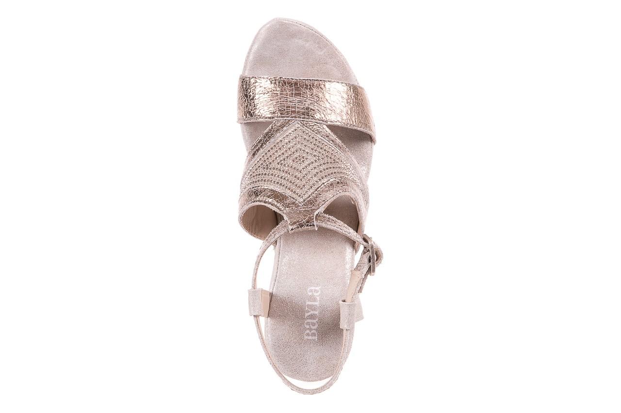 Sandały bayla-131 2714 platino, srebrny, skóra naturalna  - bayla - nasze marki 11