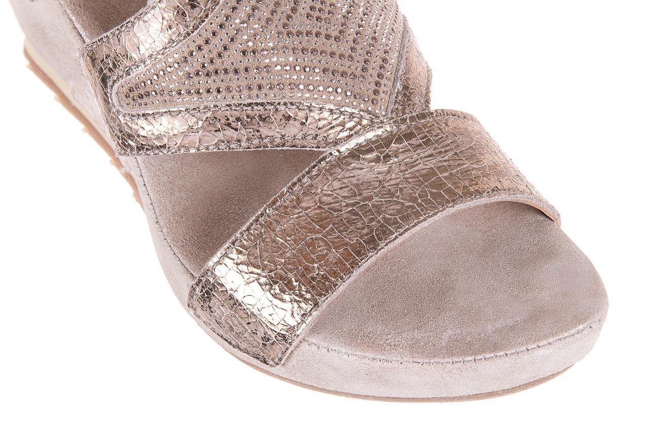 Sandały bayla-131 2714 platino, srebrny, skóra naturalna  - bayla - nasze marki 12