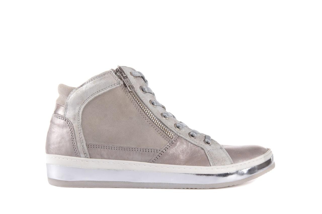 Półbuty bayla-131 4002 platino, skóra naturalna - wysokie - trampki - buty damskie - kobieta 6