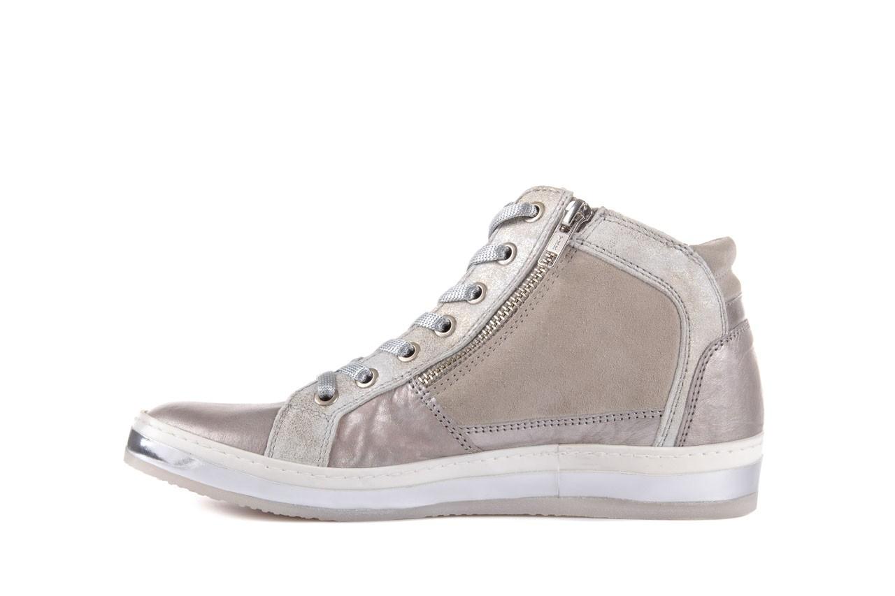 Półbuty bayla-131 4002 platino, skóra naturalna - wysokie - trampki - buty damskie - kobieta 8
