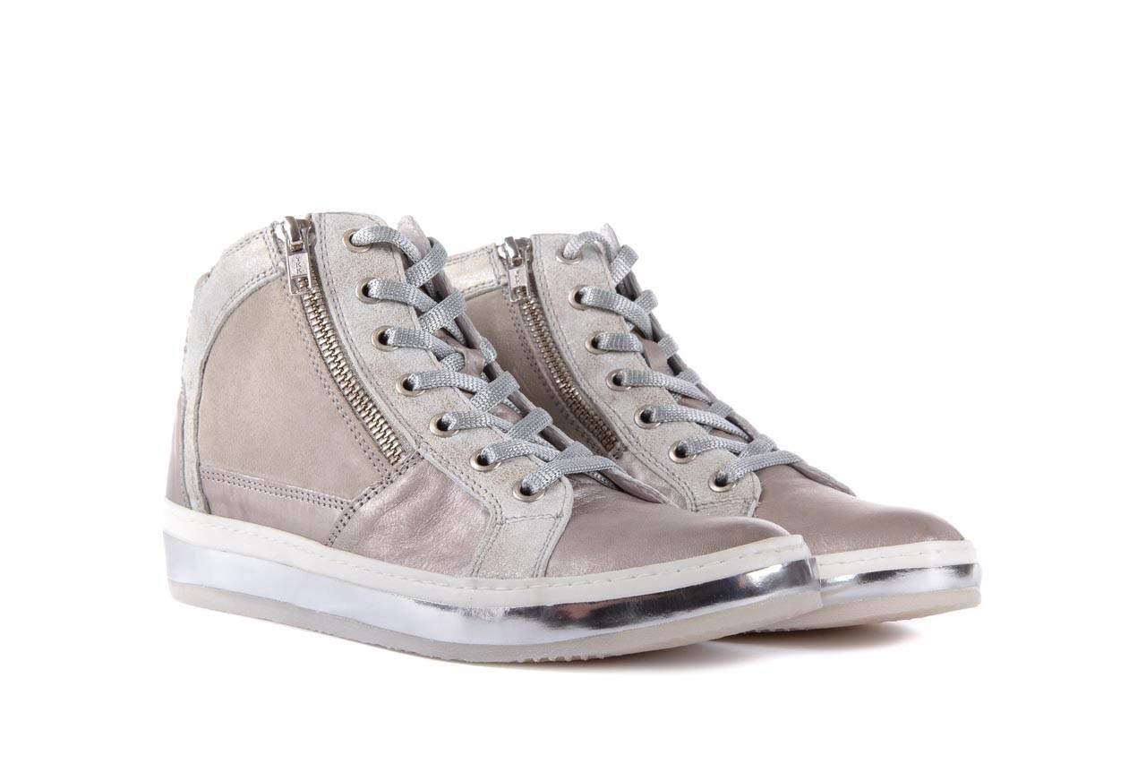 Półbuty bayla-131 4002 platino, skóra naturalna - wysokie - trampki - buty damskie - kobieta 7