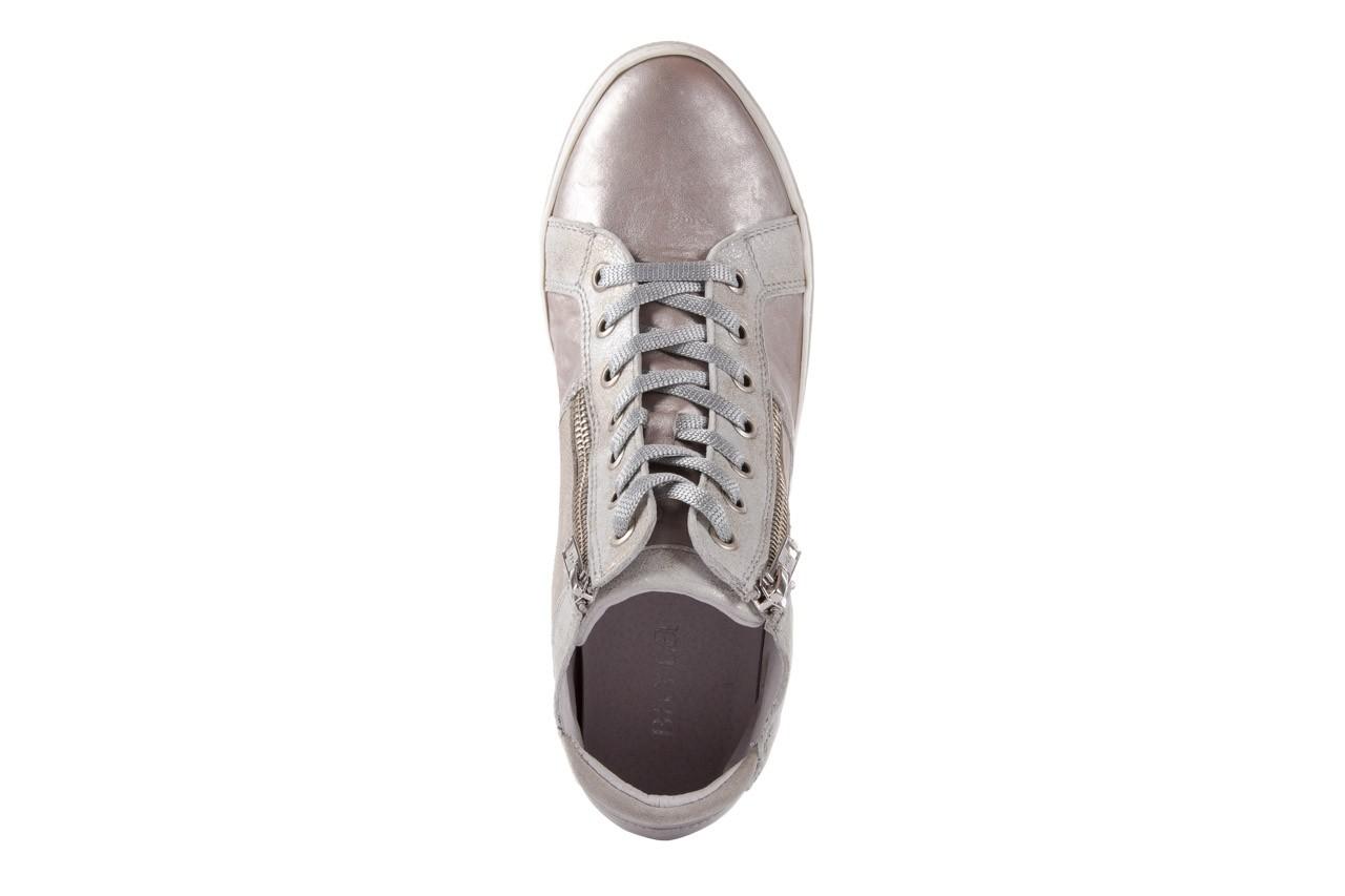 Półbuty bayla-131 4002 platino, skóra naturalna - wysokie - trampki - buty damskie - kobieta 10