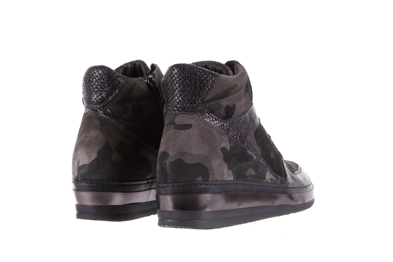 Sneakersy bayla-131 4002 woodland, moro, skóra naturalna  - sneakersy - buty damskie - kobieta 9