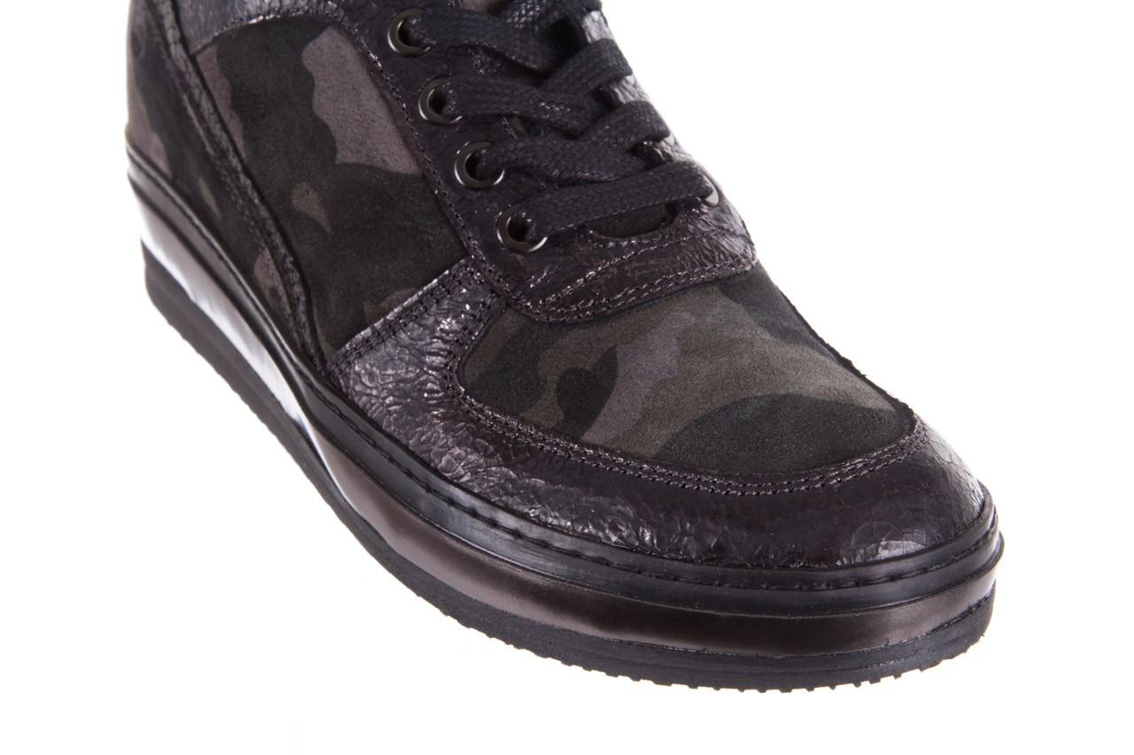 Sneakersy bayla-131 4002 woodland, moro, skóra naturalna  - sneakersy - buty damskie - kobieta 11