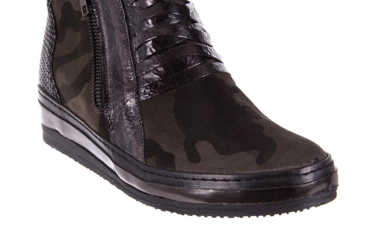 Sneakersy bayla-131 4006 grey, szary, skóra naturalna  - obuwie sportowe - dla niej - dodatkowe -10% 12