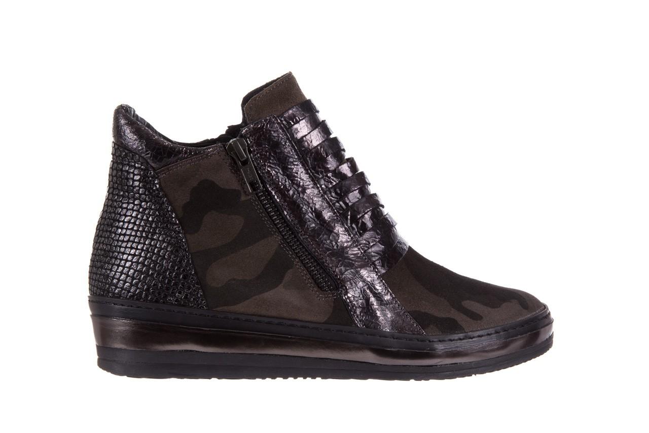 Sneakersy bayla-131 4006 grey, szary, skóra naturalna  - obuwie sportowe - dla niej - dodatkowe -10% 7
