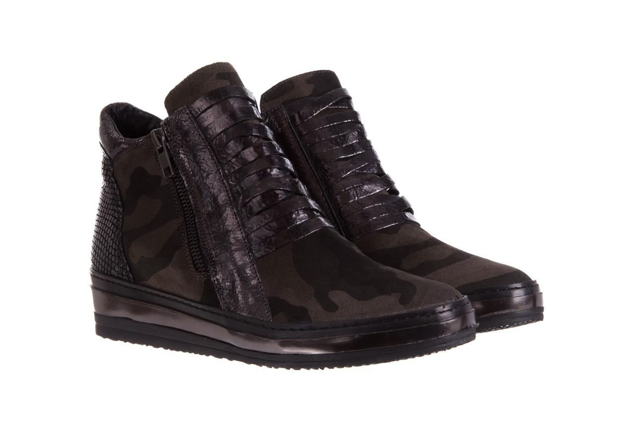 Sneakersy bayla-131 4006 grey, szary, skóra naturalna  - obuwie sportowe - dla niej - dodatkowe -10% 8