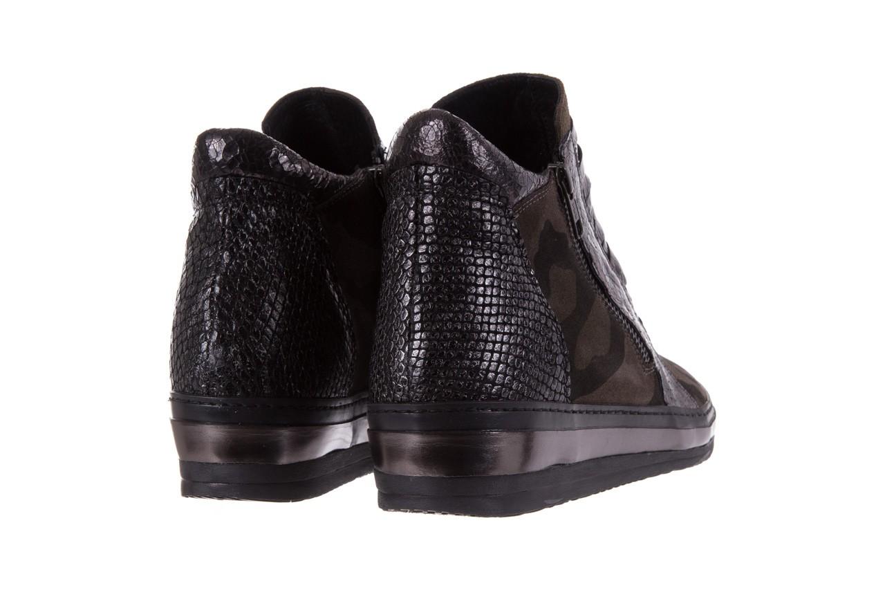 Sneakersy bayla-131 4006 grey, szary, skóra naturalna  - obuwie sportowe - dla niej - dodatkowe -10% 10