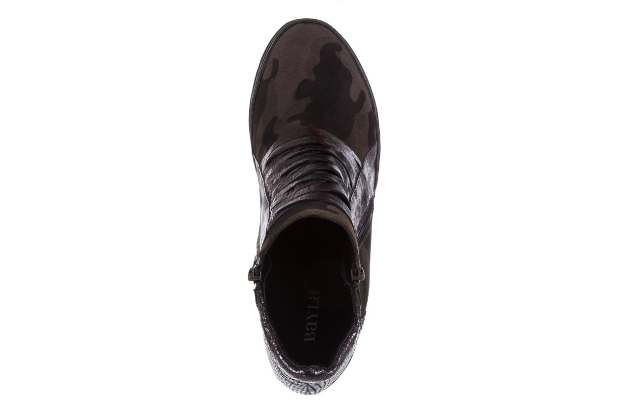 Sneakersy bayla-131 4006 grey, szary, skóra naturalna  - obuwie sportowe - dla niej - dodatkowe -10% 11
