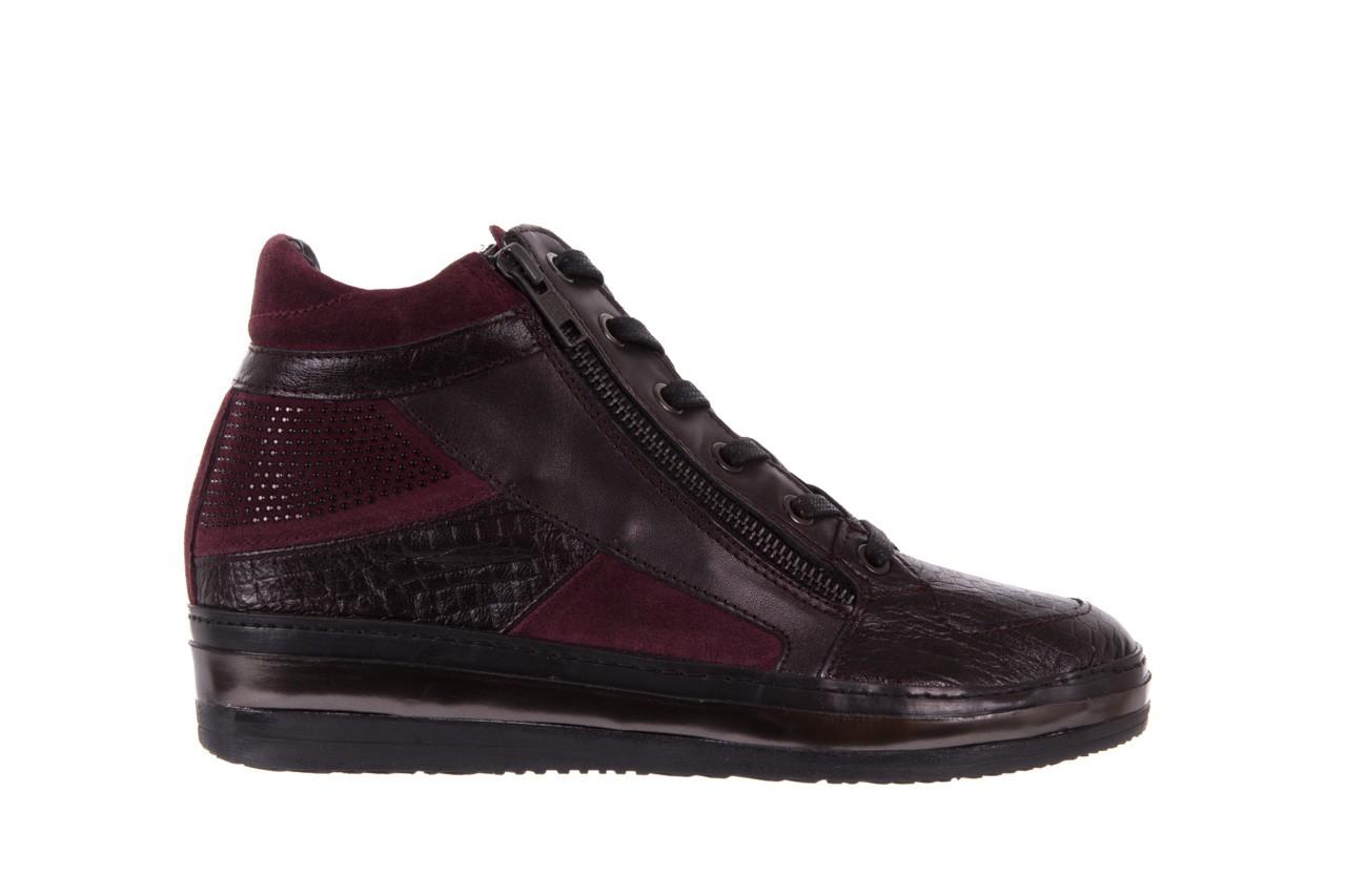 Sneakersy bayla-131 4011 bordeaux, skóra naturalna  - obuwie sportowe - dla niej - dodatkowe -10% 6
