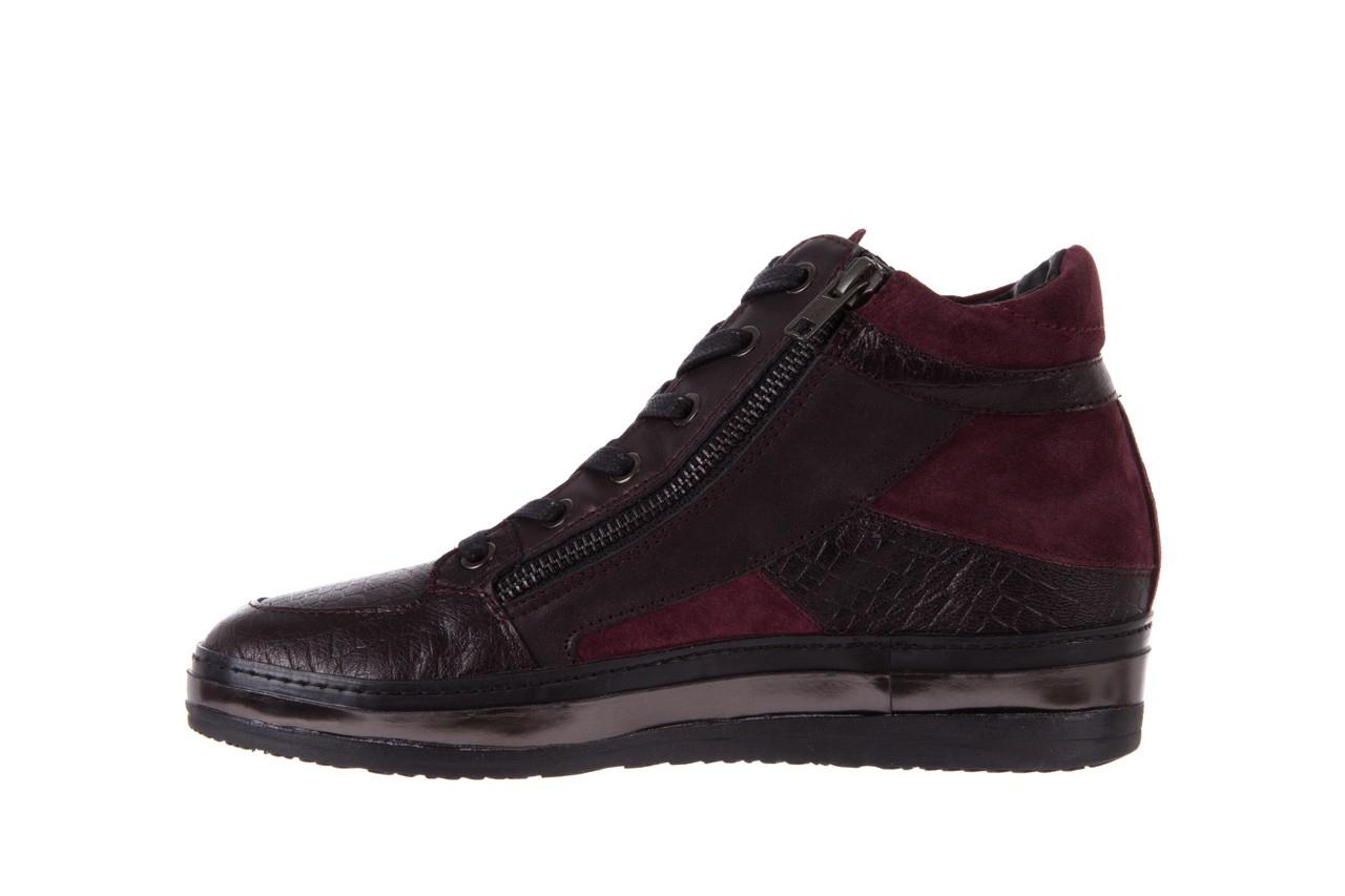 Sneakersy bayla-131 4011 bordeaux, skóra naturalna  - obuwie sportowe - dla niej - dodatkowe -10% 8