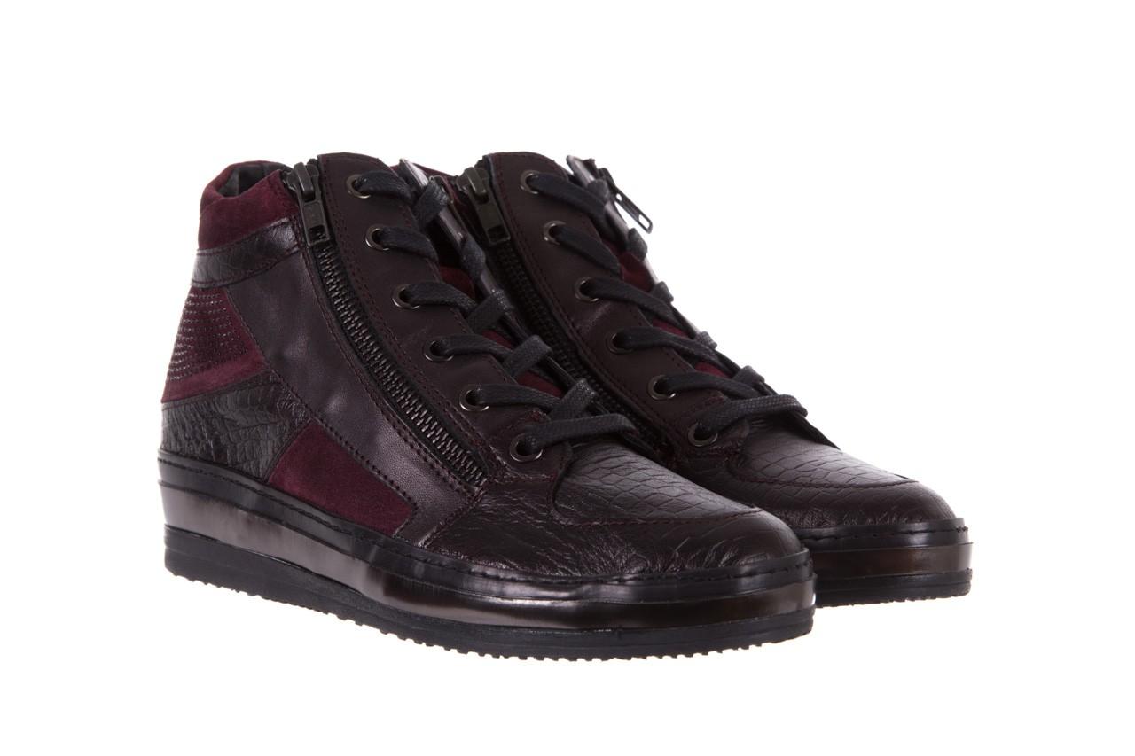Sneakersy bayla-131 4011 bordeaux, skóra naturalna  - obuwie sportowe - dla niej - dodatkowe -10% 7